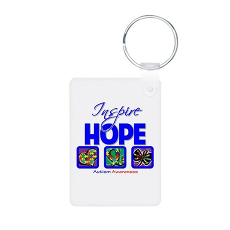 Autism Inspire Hope Aluminum Photo Keychain