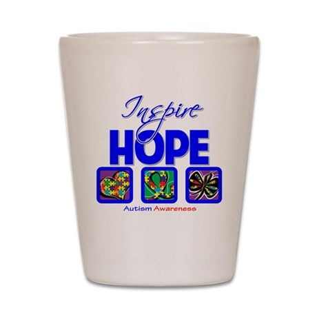 Autism Inspire Hope Shot Glass