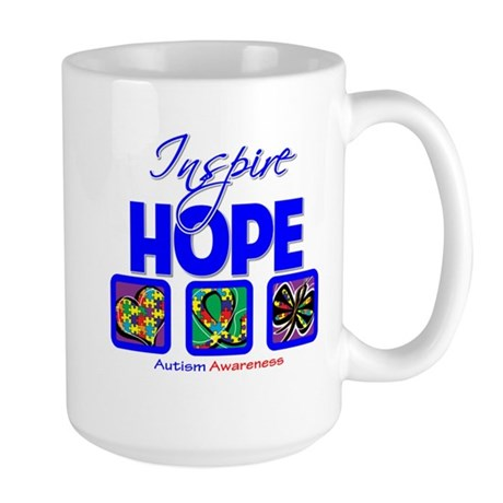 Autism Inspire Hope Large Mug