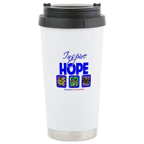 Autism Inspire Hope Ceramic Travel Mug