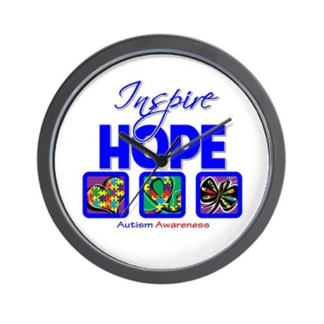 Autism Inspire Hope Wall Clock
