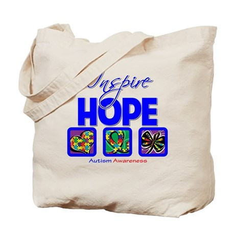 Autism Inspire Hope Tote Bag
