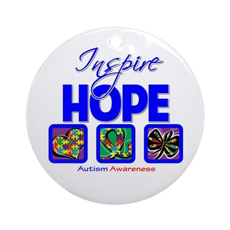 Autism Inspire Hope Ornament (Round)