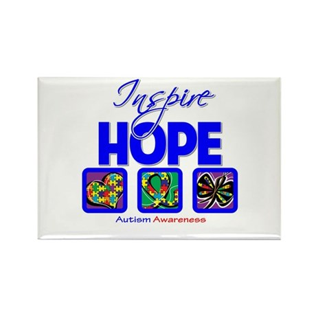 Autism Inspire Hope Rectangle Magnet