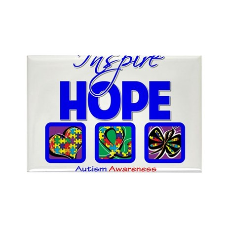 Autism Inspire Hope Rectangle Magnet (100 pack)