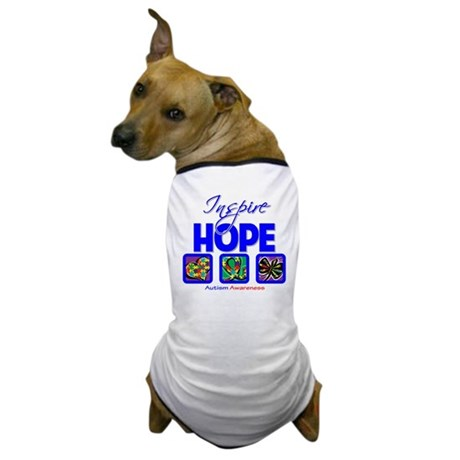 Autism Inspire Hope Dog T-Shirt