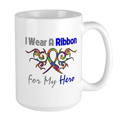 Autism Ribbon Hero Large Mug