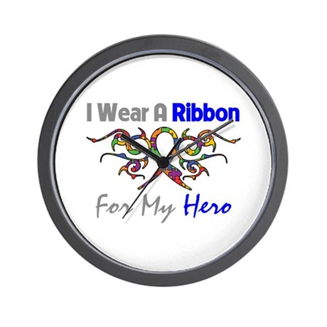 Autism Ribbon Hero Wall Clock
