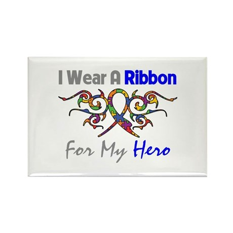 Autism Ribbon Hero Rectangle Magnet