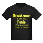 Resistance Is Futile and Volt Kids Dark T-Shirt