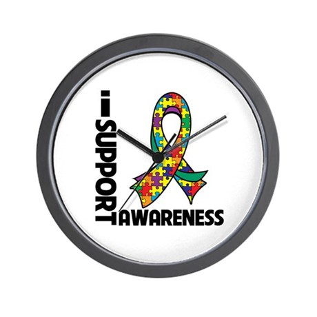 I Support Autism Awareness Wall Clock