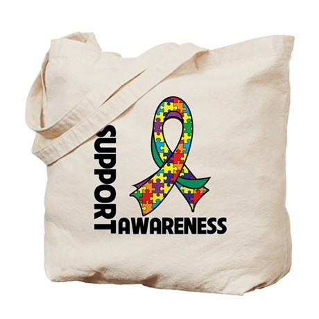 I Support Autism Awareness Tote Bag