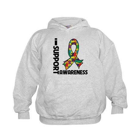 I Support Autism Awareness Kids Hoodie