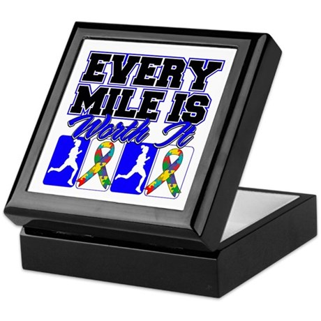 Autism Every Mile Is Worth It Keepsake Box