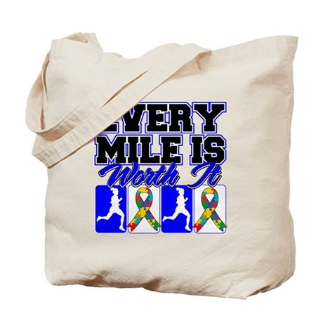 Autism Every Mile Is Worth It Tote Bag