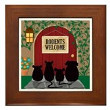 Rodents Welcome Framed Tile