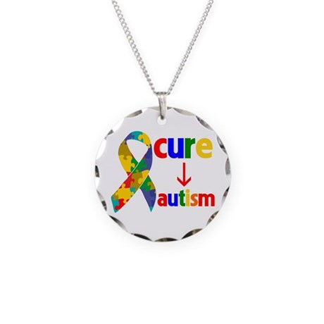 Cure Autism Necklace Circle Charm