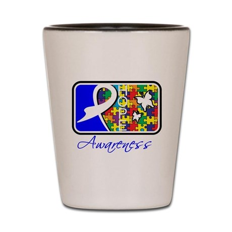 Autism Awareness Tile Shot Glass