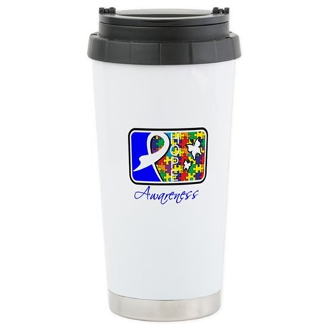 Autism Awareness Tile Ceramic Travel Mug