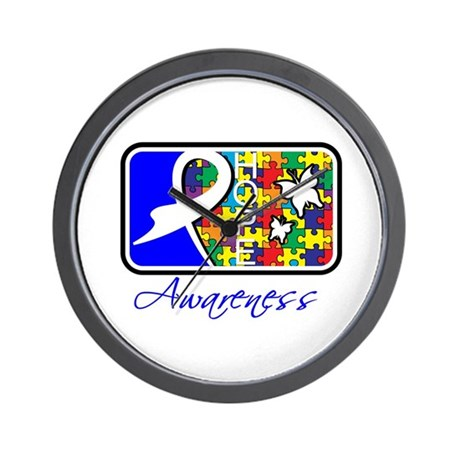 Autism Awareness Tile Wall Clock