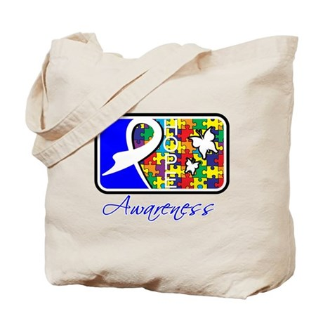 Autism Awareness Tile Tote Bag