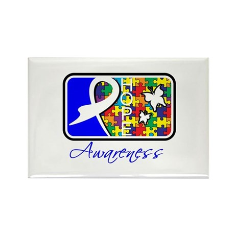 Autism Awareness Tile Rectangle Magnet