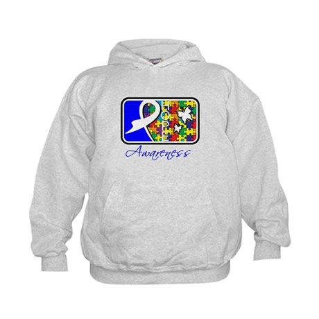 Autism Awareness Tile Kids Hoodie