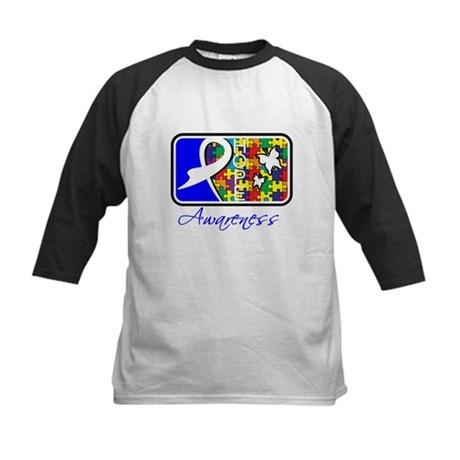 Autism Awareness Tile Kids Baseball Jersey