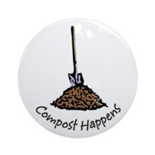 Compost Happens Ornament (Round)