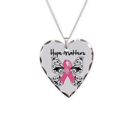 Hope Matters Breast Cancer Necklace Heart Charm