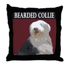 Bearded Collie Throw Pillow