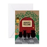 Rodents Welcome Greeting Card