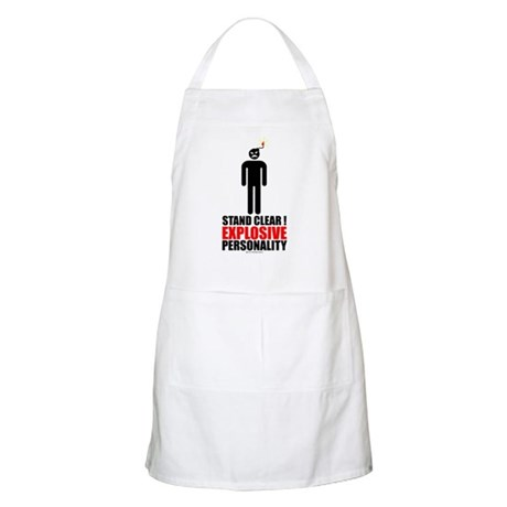 Stand clear! explosive person Apron