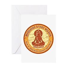 Buddha Meditation Wisdom Greeting Card