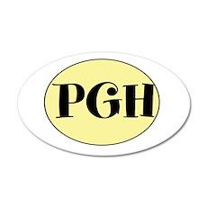 PGH, Pittsburgh, Fun, 22x14 Oval Wall Peel