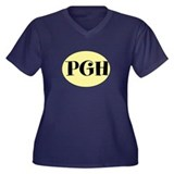 PGH, Pittsburgh, Fun, Women's Plus Size V-Neck Dar