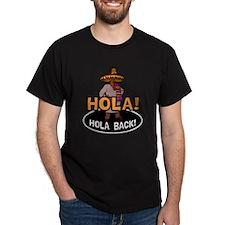 Hola Back Black T-Shirt