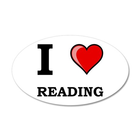 I Heart Reading 22x14 Oval Wall Peel