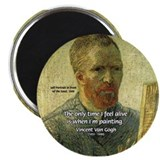Vincent Van Gogh Quote 2.25&quot; Magnet (100 pack)
