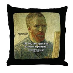 Vincent Van Gogh Quote Throw Pillow