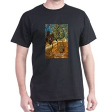 Artist Van Gogh Painting Black T-Shirt