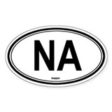 Namibia (NA) euro Oval Decal
