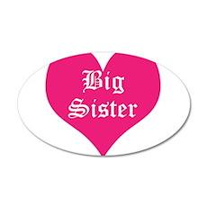 Big Sister, Bright, 38.5 x 24.5 Oval Wall Peel