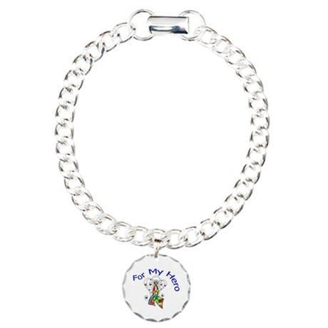 Autism For My Hero Charm Bracelet, One Charm