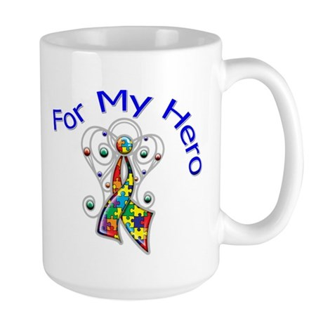 Autism For My Hero Large Mug