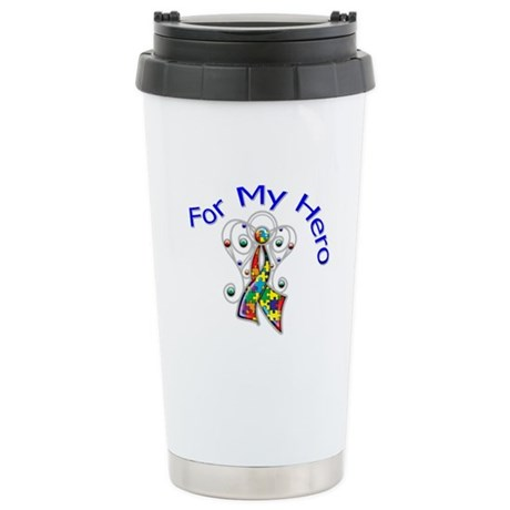 Autism For My Hero Ceramic Travel Mug
