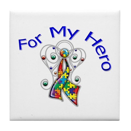 Autism For My Hero Tile Coaster
