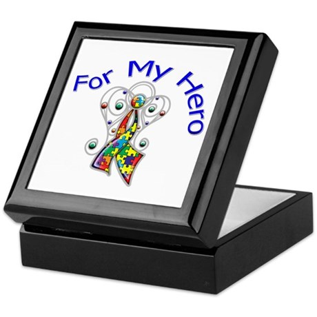 Autism For My Hero Keepsake Box