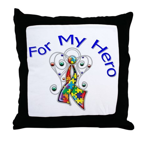 Autism For My Hero Throw Pillow