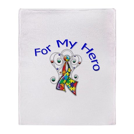 Autism For My Hero Throw Blanket